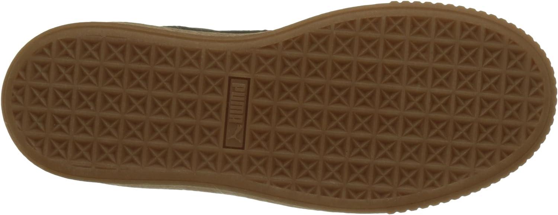puma basket platform euphoria white