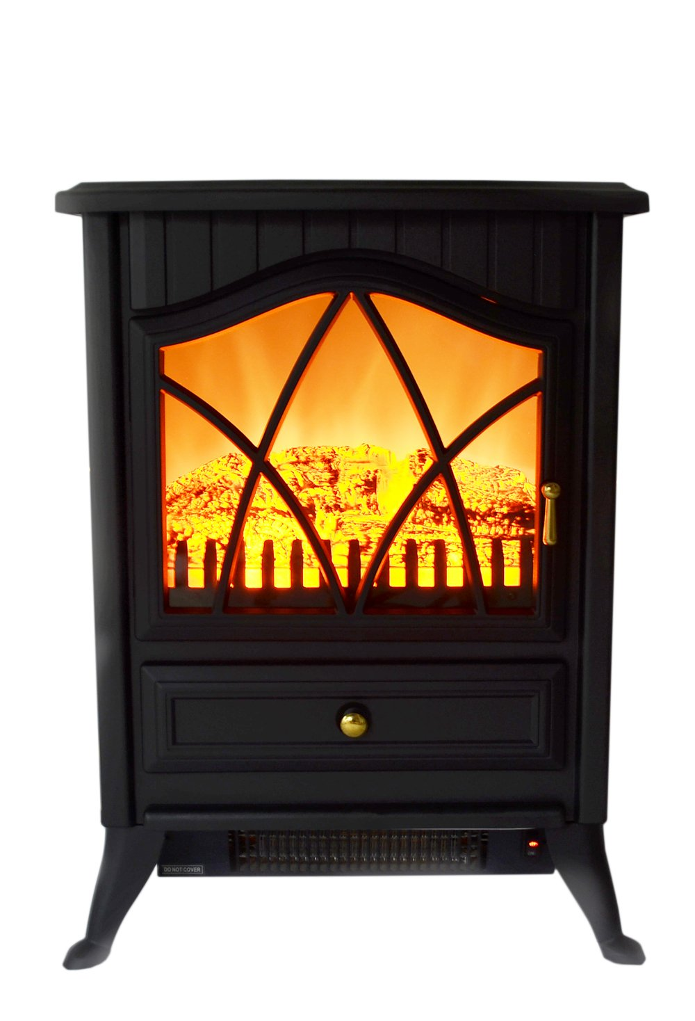 "Amazon.com: AKDY 16"" Retro-Style Floor Freestanding Vintage Electric Stove Heater Fireplace AK-ND-18D2P (Cool Black): Home & Kitchen"