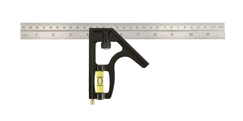 Johnson Level Tool 400EM 12 Inch English Metric Metal Combination Square