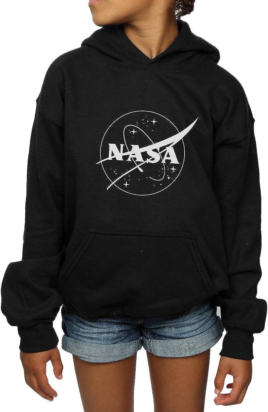 NASA Girls Classic Insignia Logo Monochrome Hoodie