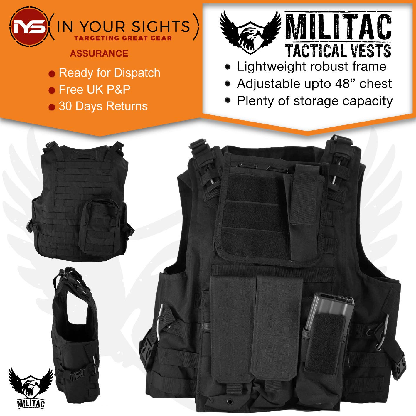 Sports & Entertainment Camping & Hiking Outdoor Tactical Vest Wireless Call Machine Vest Vest Chest Bag Holster Bag