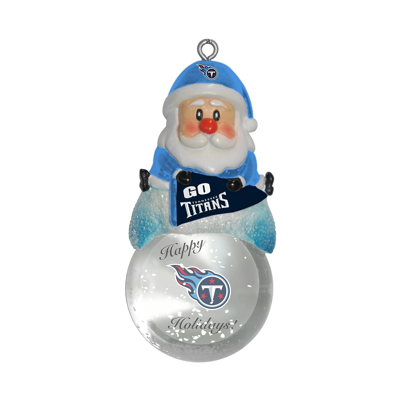 Amazon.com: Adorno de bola de nieve de la NFL, Plateado, 1.5 ...