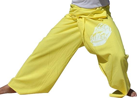 RaanPahMuang Warm Cotton Thai Fisherman Pants with VW Beach Buggy Print Tall