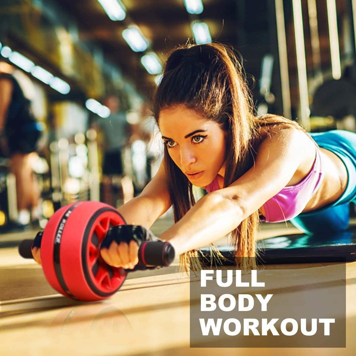 Rodillo de entrenamiento abdominal AB con cuerda para saltar, equipo de fitness 2 en 1, dispositivos de rodillo abdominal para entrenamiento, ayuda ...