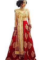 MR Fashion Woman's Embroidered Tappeta silk Semi-stitched Lahenga Choli (FREE SIZE)
