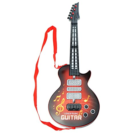 Guitarra eléctrica para niños, aPerfectLife Multi-función Niños Guitarra eléctrica 4 cuerdas Instrumentos musicales