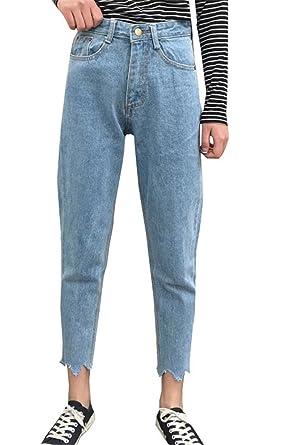 COCO clothing Frühjahr Herbst Mom Jeans Damen Hose 7 8 Ripped Marlene Freizeithosen  Frauen Hoher 43024465a8