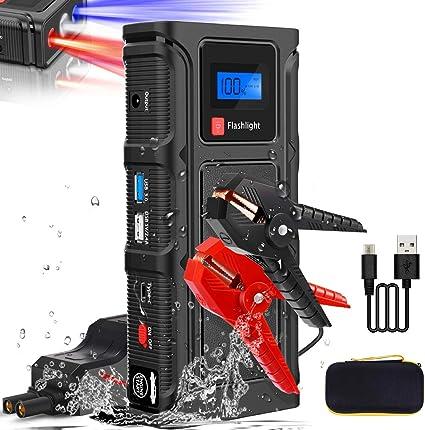 Tesoky Arrancador de Coches1200mAh 2000A, Arrancadores de batería de Coche Booster(para 12V de 6.0L