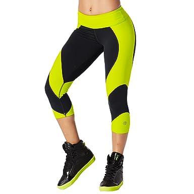 Zumba Fitness Damen Team Zumba Capri Leggings Frauenhosen