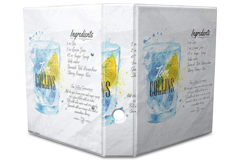 Diseño de documentos Carpeta estampado 60 mm din a4 Recetas Tom Collins: Amazon.es: Oficina y papelería