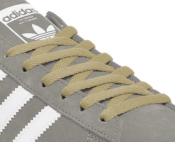 1b7ce5a9165ac Kilter Flat Trainer Shoelaces - Beige - 8mm X 90cm (1 Pair): Amazon ...