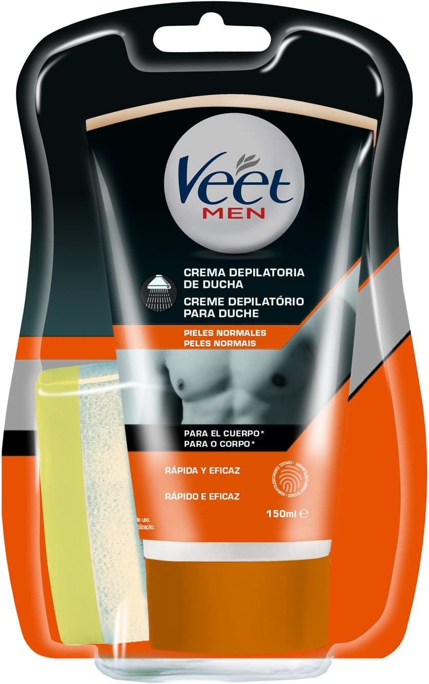Veet for Men Crema Depilatoria Corporal para Usar Bajo la Ducha ...