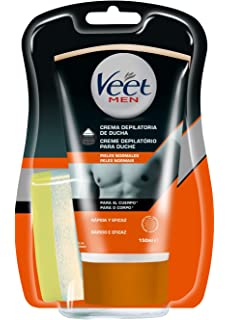 Veet for Men Crema Depilatoria Corporal para Hombre, Piel Normal ...