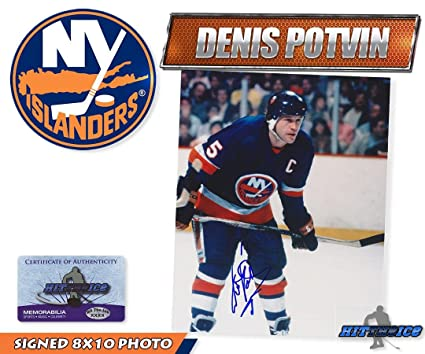 4ad232a8db0 Signed Denis Potvin Photo - 8x10 w COA - Autographed NHL Photos at Amazon's  Sports Collectibles Store