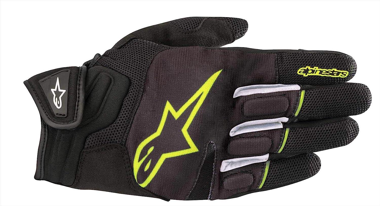 Schwarz//Weiss L Alpinestars Motorradhandschuhe Atom Gloves Black White
