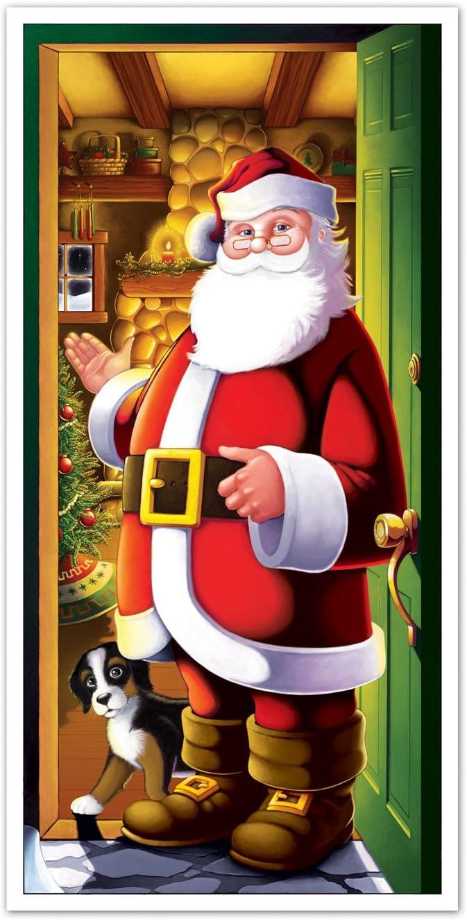 """Beistle Santa Door Cover, 30"""" x 5'"""