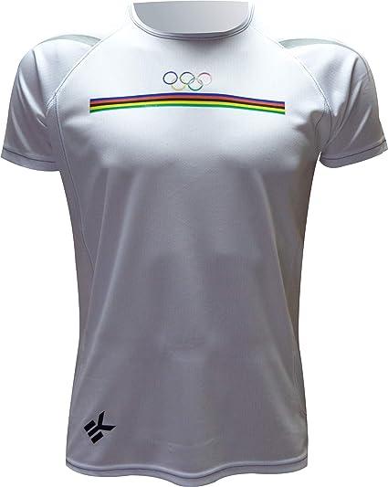 Ekeko OLIMPICA, camiseta hombre manga corta, para running, atletismo y deportes en general