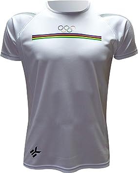 Ekeko OLIMPICA, Camiseta Hombre Manga Corta, para Running, Atletismo y Deportes en General, Muy Transpirable y Ligera: Amazon.es: Deportes y aire libre