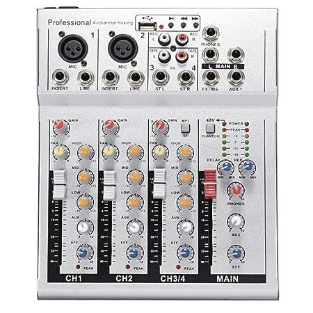 Remaxm Mini Mezclador de Audio, USB DJ Consola Mezcladora de ...