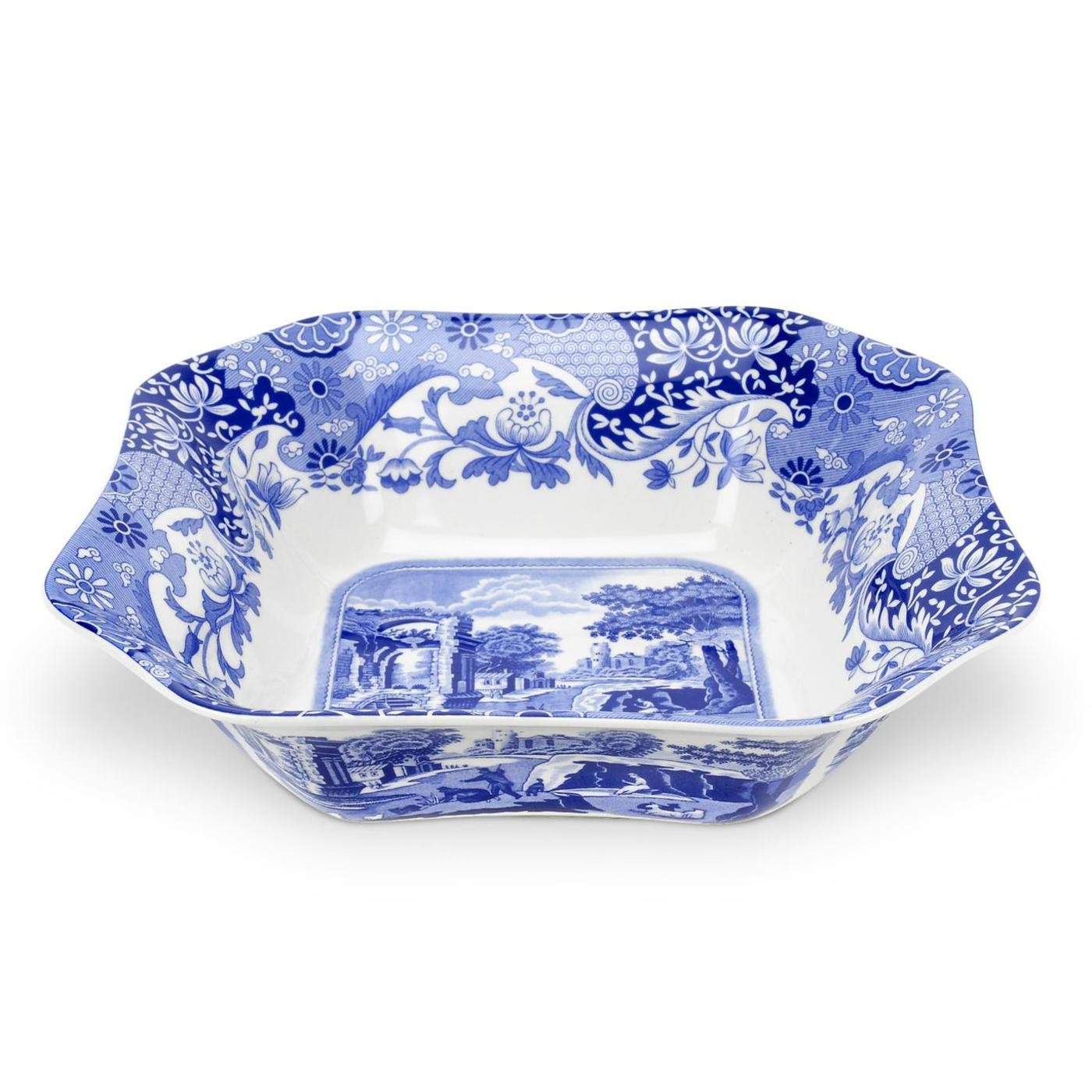Spode Blue Italian Square Serving Bowl by Spode