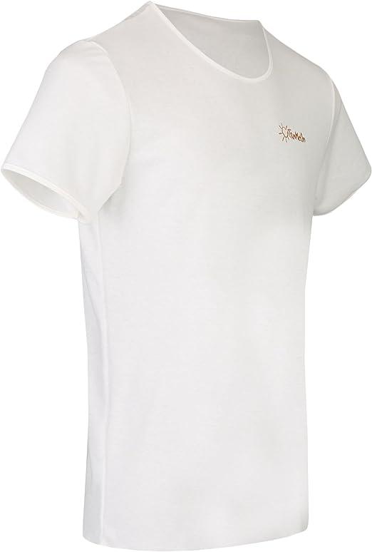uv permeable shirt blue or gray TanMeOn Tan-through T-Shirt for men round neck color: white