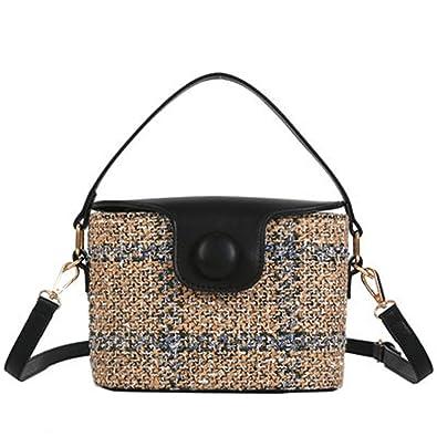 Amazon.com: Daniel cubeta paja bolsas de mujeres saco de ...