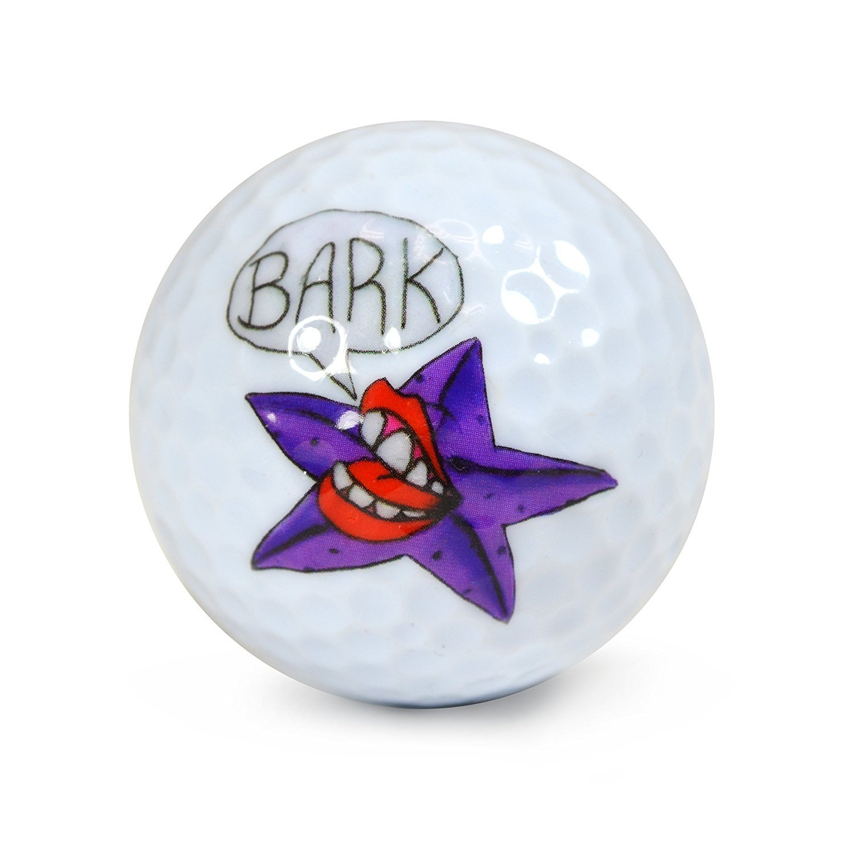 Nicks Underground Novelty Golf Balls - Barking Starfish 3 Pack Display Tube #NUG35 [並行輸入品] B072MCNTHH