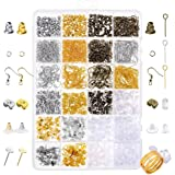 Paxcoo 2400Pcs Earring Making Supplies Kit with 24 Style Earring Hooks, Earring Backs, Earrings Posts and Earring Making…