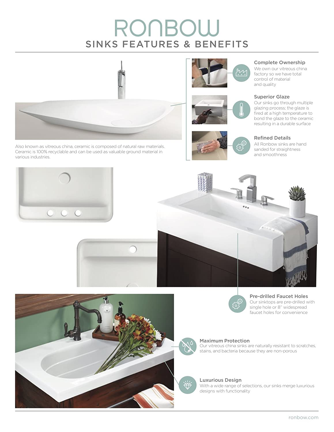 RONBOW Essence 20 Inch Undermount Ceramic Vessel Bathroom Vanity Sink In  Biscuit 200521 BI     Amazon.com