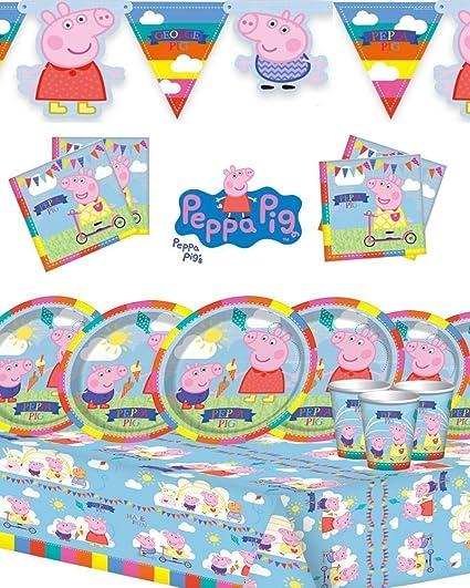 Amazon.com: Peppa Pig Kit de fiesta de cumpleaños infantiles ...
