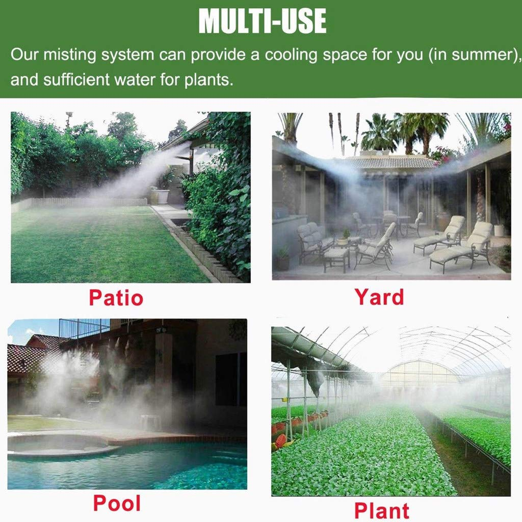 Flower Beds ecurson Drip Irrigation Misting Cooling System Home Garden Outdoor Patio Misting Micro Cooling System Nozzle Sprinkler sprary Head forGrass waterpark A