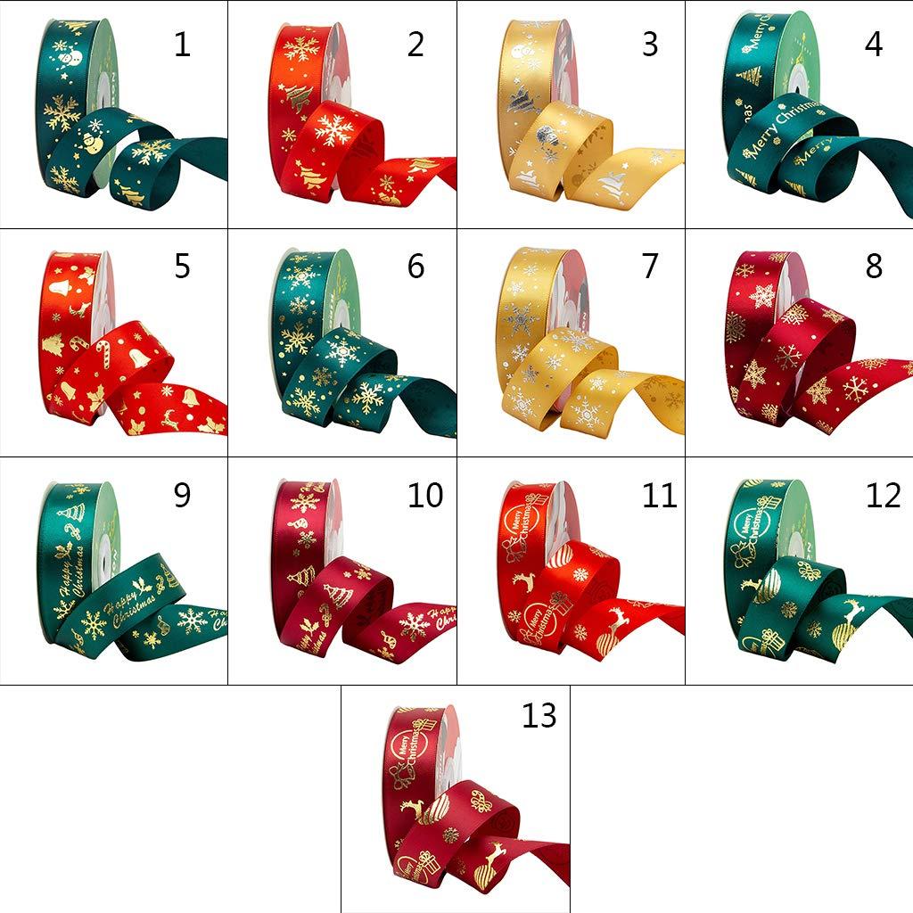 Emballage Cadeau Enfant Artisanat de No/ël Mariage Bricolage Ruban Cadeau Polyester Ruban D/écorations de No/ël Arbre /À G/âteau Vert Fonc/é 25 M Manyo Ruban Noel 1 Rouleau