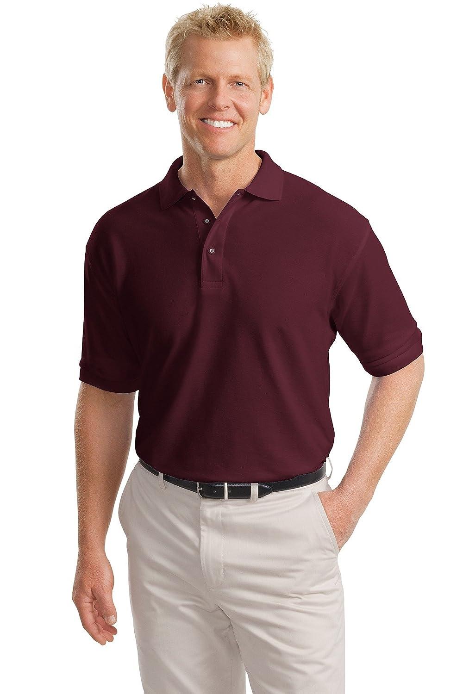 Port Authority Tall Silk Touch Polo Shirt, XLT, Cool Grey