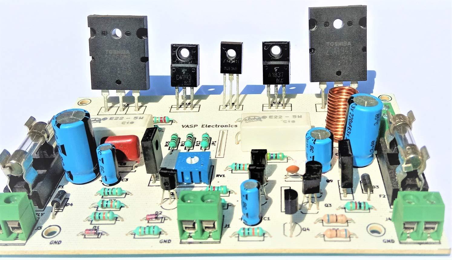Vasp Electronics 100 Watt HIFI Audio Power Amplifier Using 2SC5200 2SA1943  Transistors - 1 Piece