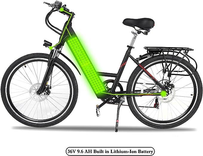 ncient bicicleta eléctrica ciclismo exterior bicicleta de ciudad ...