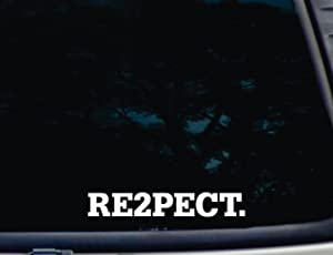"""RE2PECT - 8"""" x 1 1/4"""" die Cut Vinyl Decal for Windows, Cars, Trucks, Tool Boxes, laptops, MacBook - virtually Any Hard, Smooth Surface. NOT Printed!"""