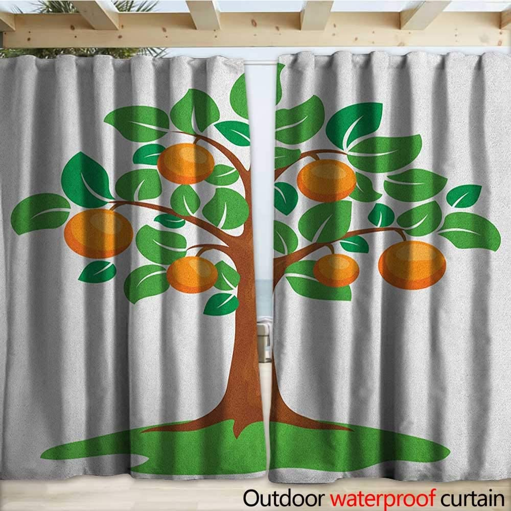 Cortina para Exteriores de Color Verde y Naranja, Caricatura de Frutas, con Manos en una Colina de Hierba, Flora de Invierno, 108 x 96 cm, Color Naranja Manzana Verde: Amazon.es: Jardín