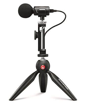 Shure MV88+ Video Kit with Digital Stereo Condenser Microphone for Apple  and Android