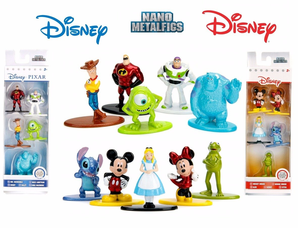 Kermit Friends Collection 10 Mini Character Metal Figures Pixar Mickey Mouse Fantasia Culture Movie Poster Card Art Pop Disney Movie Hot Wheels Snow White