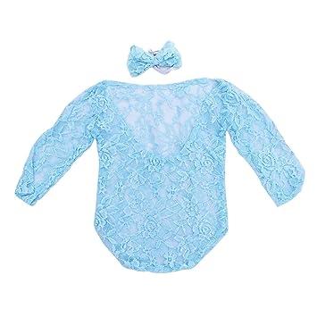 STOBOK Ganchillo bebé Encaje Collar Traje recién Nacido ...
