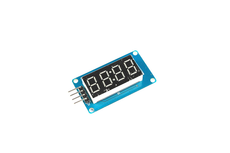 Rojo 4 dígitos 7 segmento LED memoria tmh1637 Digital reloj Arduino: Amazon.es: Industria, empresas y ciencia