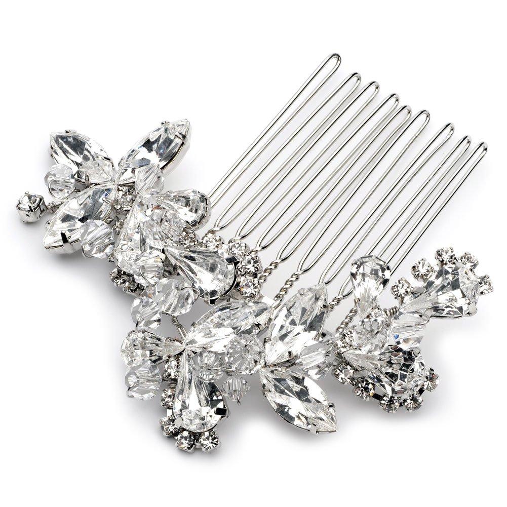 USABride Vibrant Crystal Hair Comb, Rhinestone Bridal Hair Accessory 2222 by USABride