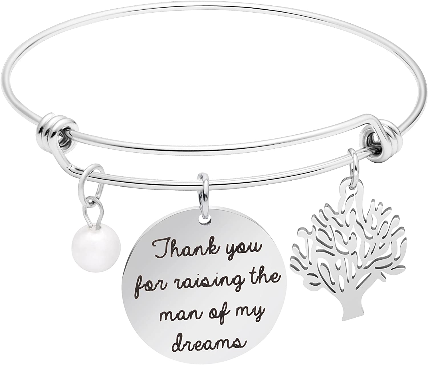 Yiyang Women Jewelry Expandable Bracelets for Girl Inspirational Engraved I Can and I Will
