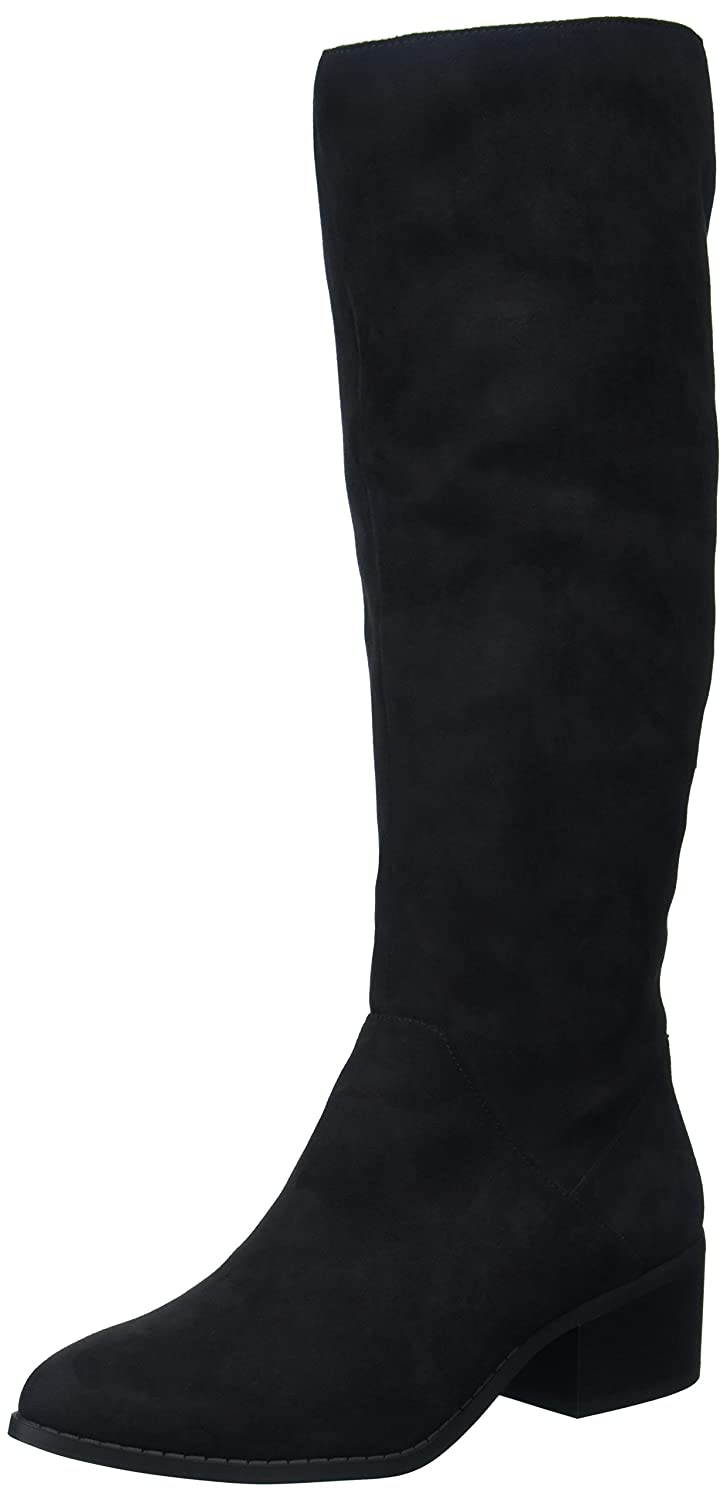 Madden Girl Women's Jagg Fashion Boot B0745GYWCS 7 B(M) US|Black Fabric
