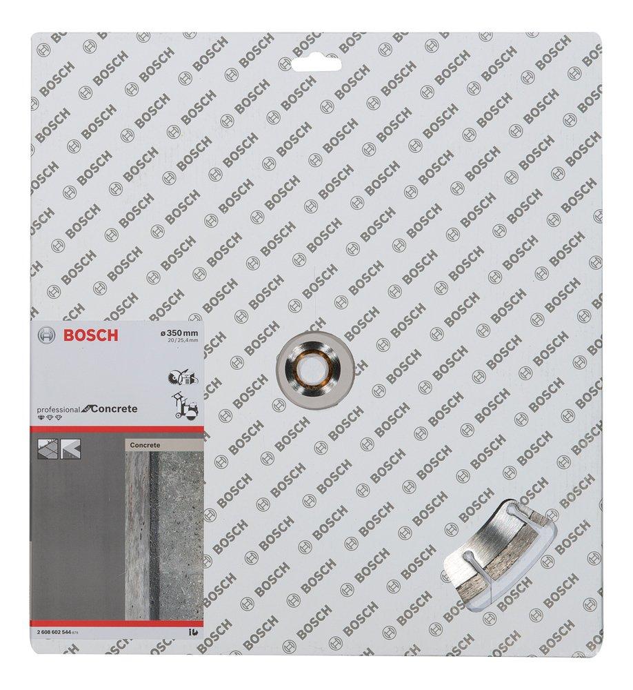 350 x 20,00+25,40 x 2,8 x 10 mm Disco tronzador de diamante Standard for Concrete Bosch 2 608 602 544