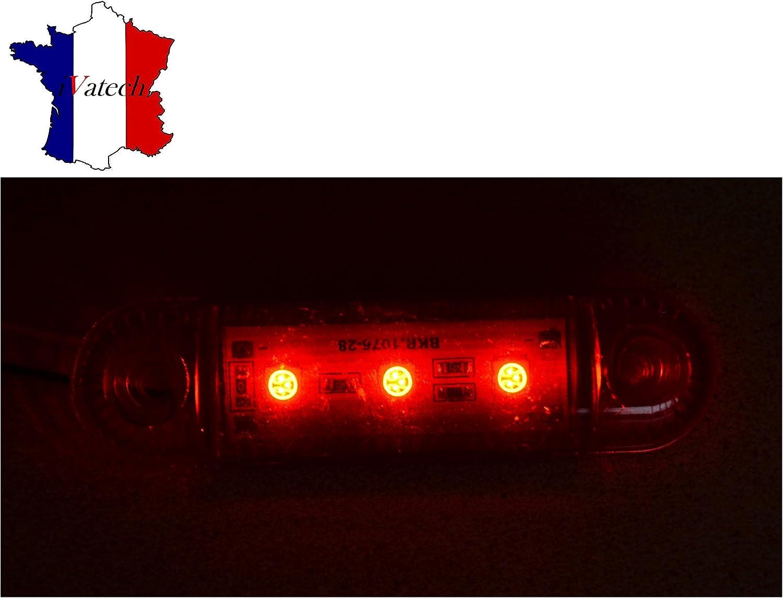 2 X 24V ROUGE 3 SMD LED FEUX DE GABARIT CAMION SHASSIS REMORQUES VAN BUS CARAVAN POUR MAN SCANIA CITROEN