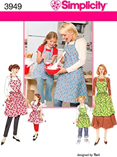 product image for Simplicity Child and Adult Matching Apron Sewing Patterns, Sizes S-L