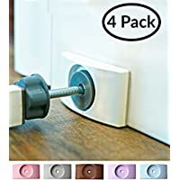 Wall Nanny (4 Pack - Made in USA) Indoor Baby Gate Wall Protector - No Safety Hazard on Bottom Spindles - Small Saver Pad Saves Trim & Paint - Best Dog Pet Child Walk Thru Pressure Gates Guard