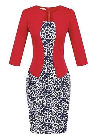 59f4e4fdd0a Arkind Robe Femme Jupe Carreau avec 2 Pièces Vêtement Professionnel Jupe  Crayon Mince Robe Ceinture