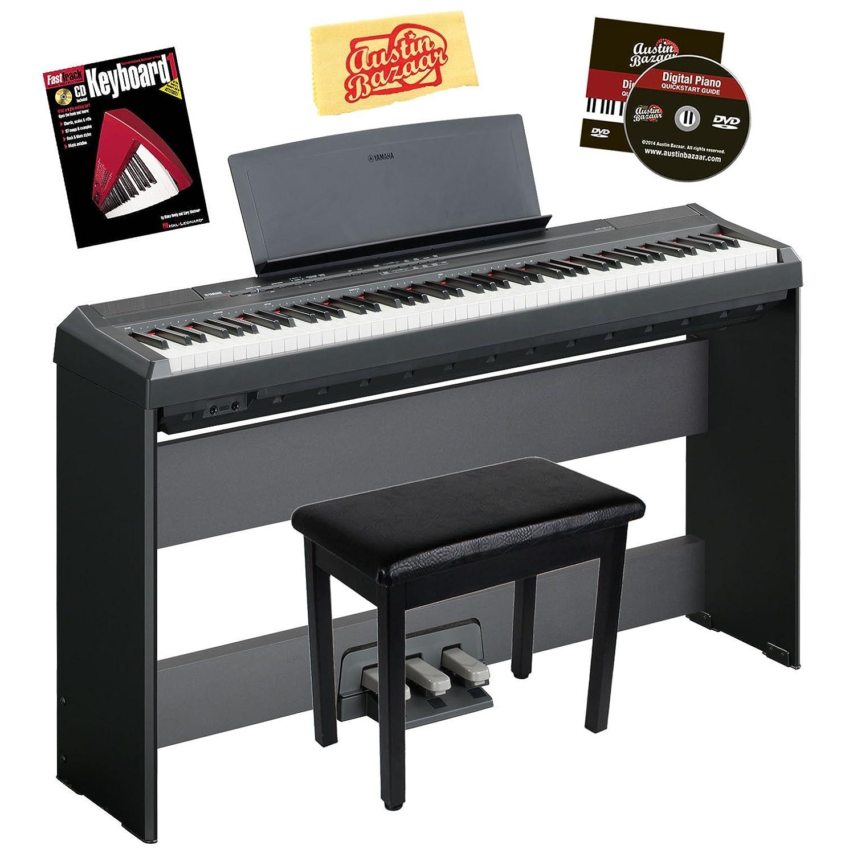 yamaha p 105 digital piano bundle with gearlux